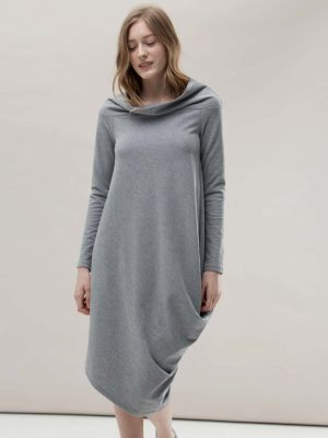 Платье серое с напуском Noel concept