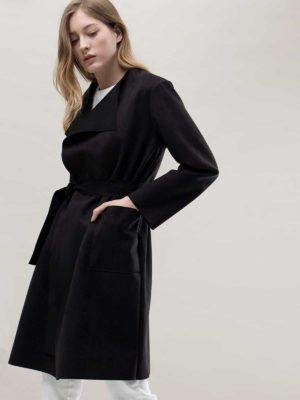 Пальто черное летнее Markavelle