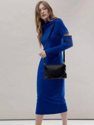 Платье васильковое облегающее Noel concept