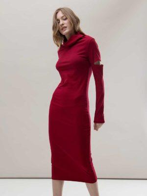 Платье красное облегающее Noel concept