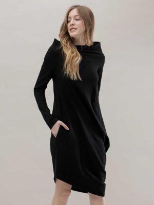 Платье черное с напуском Noel concept