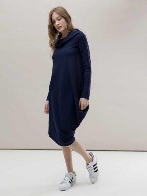 Платье синее с напуском Noel concept